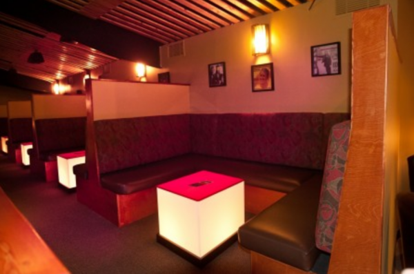 VIP Booths - can accommodate between 8-10 people