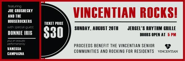 Vincentian Rocks Jergel's Fundraiser