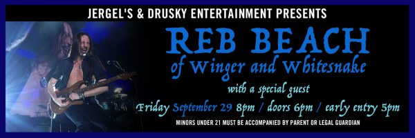 Reb Beach w/special guests Silk 9