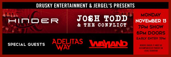 Hinder + Josh Todd and the Conflict