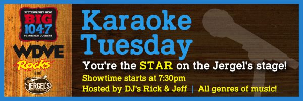 BIG 104.7 Country Karaoke Tuesday