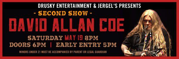 David Allan Coe – Second Show!