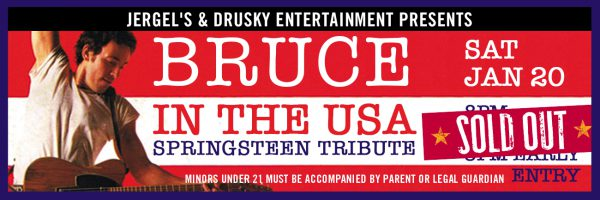 Bruce in the USA – Springsteen Tribute – SOLD OUT!