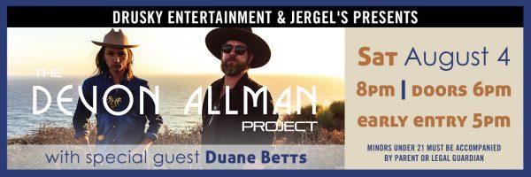 The Devon Allman Project w/Duane Betts