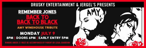 Back to Black: Amy Winehouse Tribute w/Remember Jones