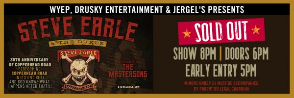 Steve Earle – SOLD OUT!