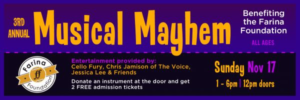 3rd Annual Musical Mayhem Fundraiser