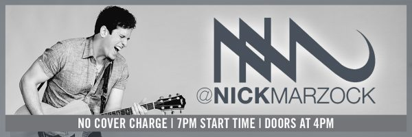 An acoustic evening with Nick Marzock