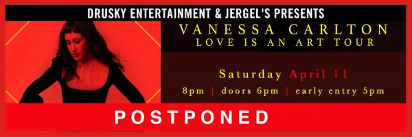 POSTPONED – Vanessa Carlton