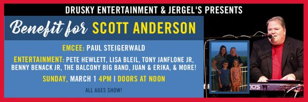 Benefit for Scott Anderson