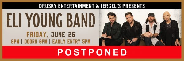 RESCHEDULED – Eli Young Band