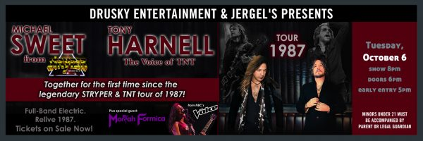 Michael Sweet & Tony Harnell – 1987 Tour