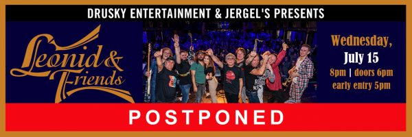 POSTPONED – Leonid & Friends – A Tribute to the Greatest Hits of Chicago