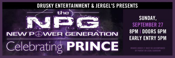 New Power Generation – featuring the music of Prince!