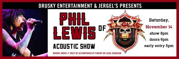 Phil Lewis of LA Guns – Acoustic Show