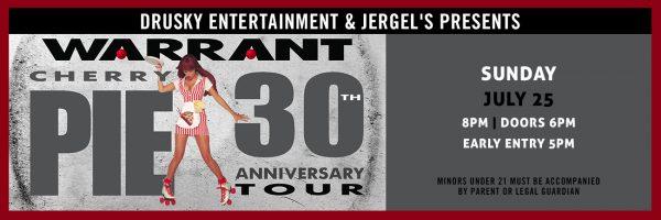 Warrant – 30th Anniversary of Cherry Pie Tour
